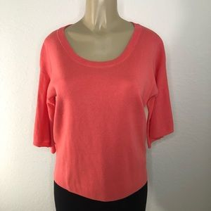 J. Crew Dramatic Bell Sleeve Coral Sweater Sz S